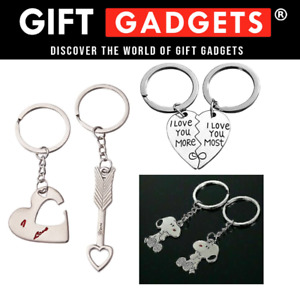 CUPID/2PC/LOVE Keyring Valentines Day Gift For Her Him Couple Husband Key Ring
