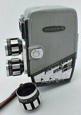 Vintage YASHICA 8 8mm Movie Camera w/3 RONDONAR Lenses