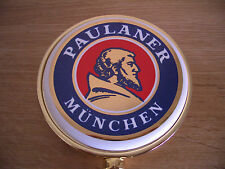 Munich Paulaner Lager Beer Pump Font Badge Oktoberfest Pub Bar Advertising Sign