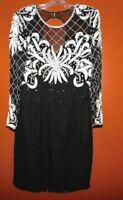 Vintage Laurence Kazar Heavy Beaded Evening Gown Ladies 10 Swank Mod Glam DRESS