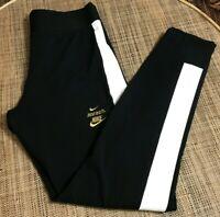Nike Women's High-Waisted Glam Dunk Legasee Leggings Black Cotton Blend sz M
