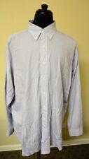 POLO BY RALPH LAUREN Blue Black Checked Button Down Dress Shirt Size 17.5 GG6235
