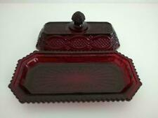 New Avon 1876 Cape Cod Ruby Red Butter Dish
