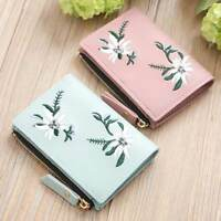 1 Pcs Wallet Lady Coin Bag PU Leather Bifold Small Handbag Purse