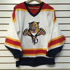 VINTAGE CCM Florida Panthers Hockey Jersey Adult Small Blue Red NHL SEWN Mens B7