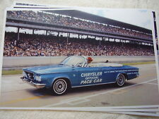 1963 CHRYSLER 300 CONVERTIBLE INDY 500 PACE CAR 11 X 17  PHOTO   PICTURE