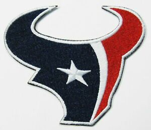 """(1) 8"""" X 7"""" HOUSTON TEXANS (FOR BACK OF JACKET) PATCH LOGO PATCH"""