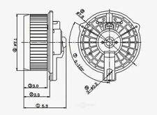 HVAC Blower Motor-Sedan Front Global 2311503