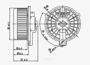 HVAC Blower Motor Front Global 2311503
