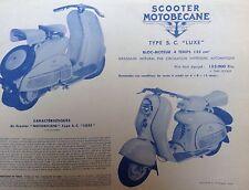 Publicité Scooter MOTOBECANE - MOBY - Annėe 1955