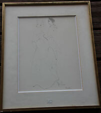 Leonor FINI - Dessin crayon encre aquarelle original drawing couple **
