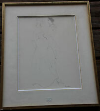 Leonor FINI - Dessin crayon encre aquarelle original drawing couple *