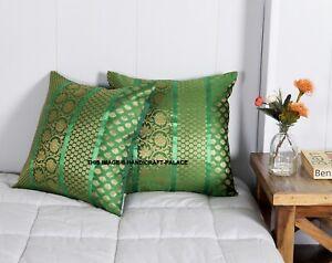 "Indian Bohemian Mandala Silk Brocade Ethnic Cushion Covers Patchwork 17"" Square"