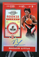 2019-20 Contenders Optic Red NASSIR LITTLE #101 On Card Auto /149 BLAZERS 🏀 🔥