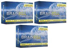 3 x BRAIN PILL Focus Supplement Boost Memory Cognizin Synapse factor BrainPill