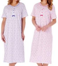 Nightdress Womens Short Sleeve Slenderella Ditsy Floral Jersey Cotton Nighty