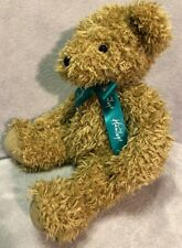 Hamleys Teddy Bear, light golden colour with green ribbon. vgc