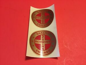 2 Authentic NOS  Schwinn tube decal red/gold (bx11)