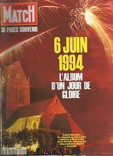 paris match n°2351 sainte-mere-l'eglise 6 juin 1994