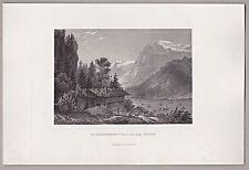 Schweiz, Berge, Obwalden, Engelberg und Titlis. Stich, Stahlstich 1862