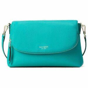 Kate Spade New York Women's Polly Large Flap Crossbody Bag Fiji Green