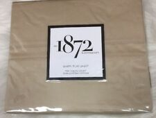 1872 Bloomingdale's 700TC Taupe Flat Sheet, Queen 100% Egyptian Cotton