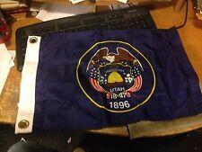 "New listing Utah State Flag 12"" x 18"" Nylon Flag Made In Usa"