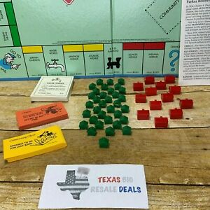 Parker Bros Monopoly Game Board Replacement Parts 1997 Houses Deeds Chance