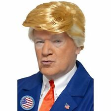 Blonde President Wig US Trump Novelty Stag Do Mens Adults Fancy Dress Costume