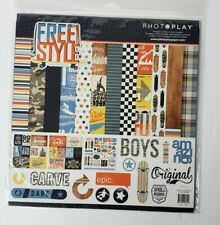 Photo Play Free Style 12 x 12 Scrapbook Collection Kit Skateboard Snowboard