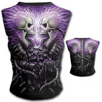 SPIRAL DIRECT FLAMING SPINE CAP SLEEVE TOP ALTERNATIVE GOTHIC LARGE