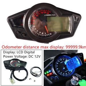 Motorcycle 15000RPM LCD Digital Odometer Speed/Tachometer Gauge (P&N) Universal
