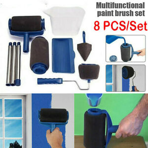 8pcs/set Paint Runner Pro Roller Brush Set Handle Tools Edger Roller Brush