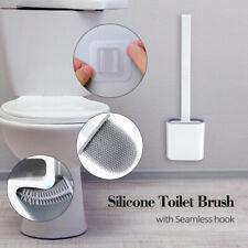 Silikon Toilettenbürste mit Klobürste Halter Wandmontage WC Bürstengarnitur DHL