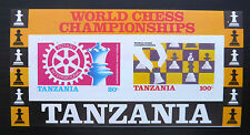 TANZANIA Wholesale 1986 Chess Rotary Imperf M/Sheet x 50 U/M SALE PRICE FP1151