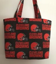 Handmade NFL Cleveland Browns Tote Purse Bag