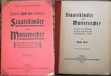 Bre, Ruth: Staatskinder o Mutterrecht? Soluzione Dal Sexuellen Elend