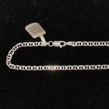 NEW Sterling Silver Chain Solid Anchor Chain Men Women Unisex 50cm 55cm