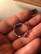 Authentic Pandora 925 Silver My Princess Stackable Ring 190880CZ Size 9