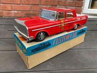 Tinplate Custom Car Fire Chief In Its Original Box - Near Mint Japan 1960s