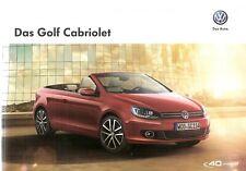 Prospekt / Brochure VW Golf Cabriolet 05/2014 mit Preisliste