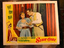 Slave Girl 1956RR Realart lobby card Yvonne DeCarlo George Brent