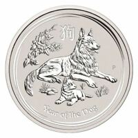 2018 Year of the Dog Perth Mint Lunar Series II | 1 oz Silver Coin In Stock!