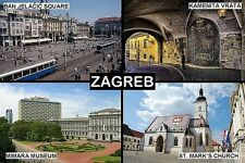 SOUVENIR FRIDGE MAGNET of ZAGREB CROATIA