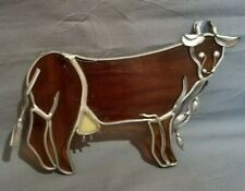 Cute Cow Suncatcher Stained Glass - Style window hanging