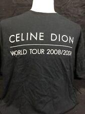 NEW -NEVER WORN - XL - Celine Dion World Tour 2008-2009  - Working Crew T-Shirt