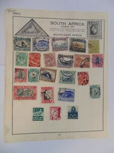 PA 432 - Page Of Mixed South Africa Stamps