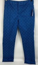 Not Your Daughters Jeans Pants Shibori Dots Blue Ankle Length Size 2P NWT