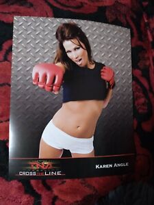 Karen Angle 2009 TNA Wrestling Cross The Line 8x10 Promotional Picture Rare!