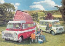 Bedford CA Debonair Dormobile Camper van Blank Birthday Fathers Day Card